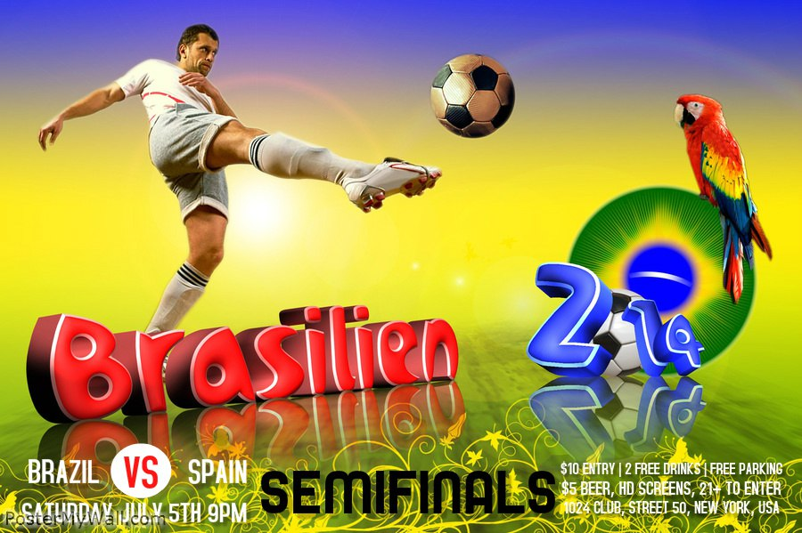 world cup poster template