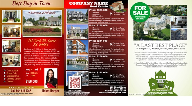 designing eye catching real estate flyers design studio