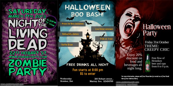 halloween party posters design studio