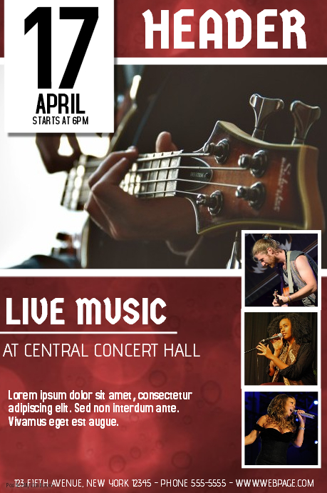 Live Music Poster Template