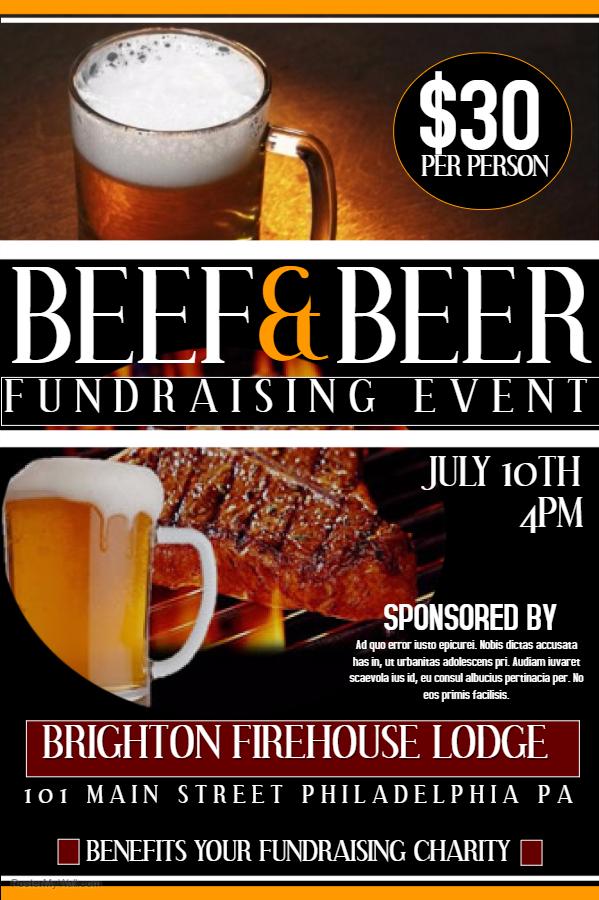 Beer & Beer Fundraising Poster