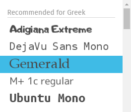 Font Suggestions for Greek.