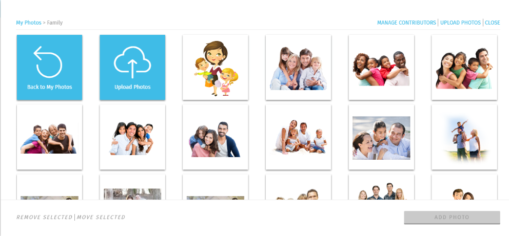 A photo collection for 'Family' themed stock photos