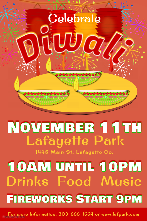 Colorful Diwali Poster