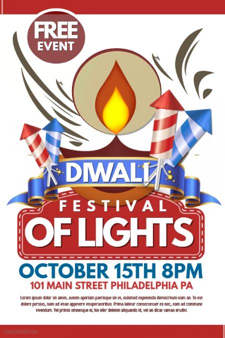 Diwali Event Poster