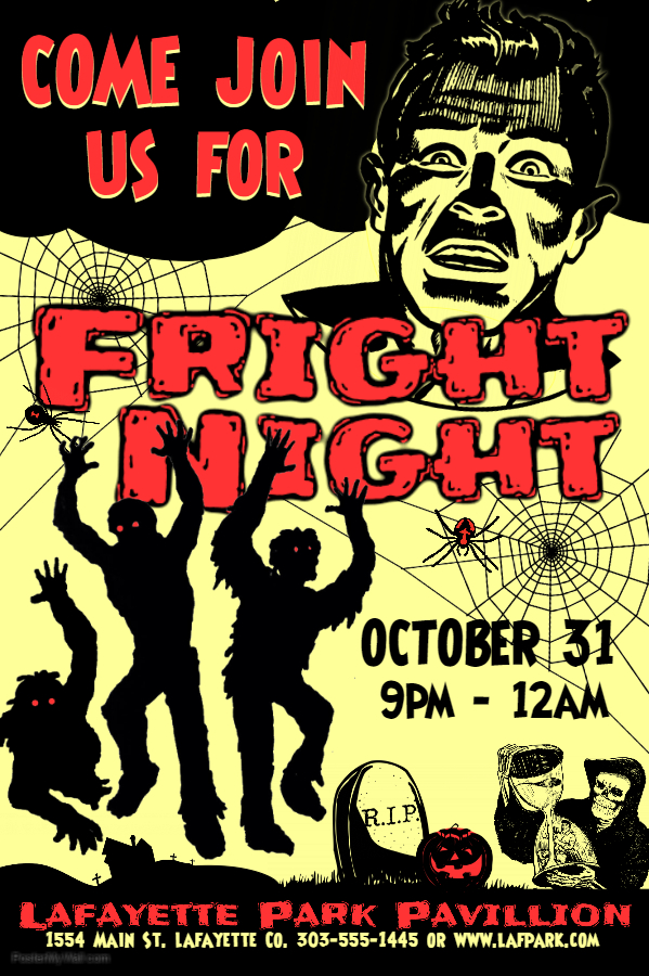 Halloween Fright Night Poster