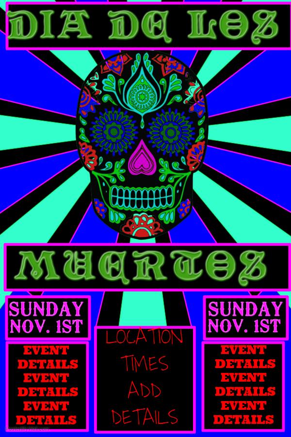 Funky Dia de los Muertos Poster