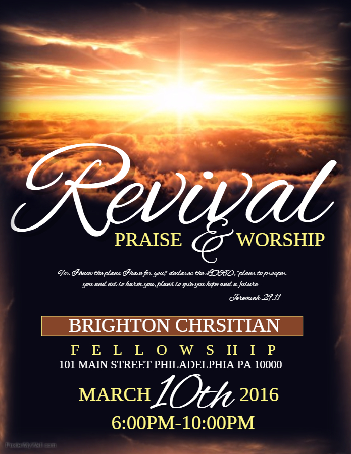 Church Prayer and Worship Poster