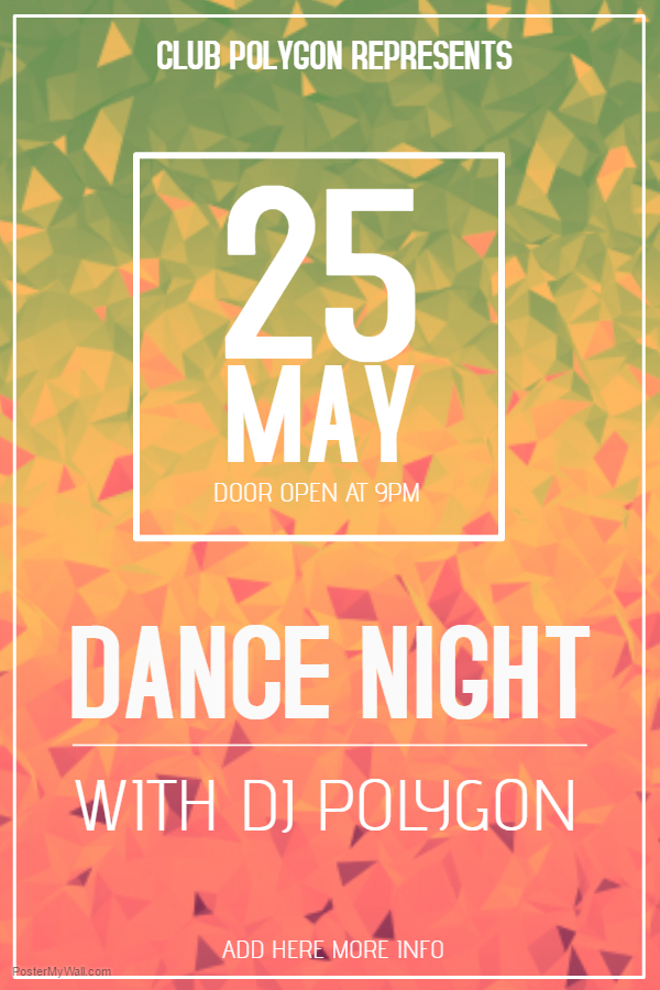 Funky Dance Night Poster