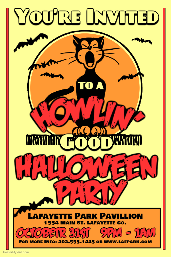 Halloween Flyer Template.