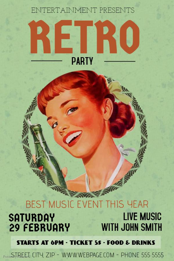 Retro Poster Template