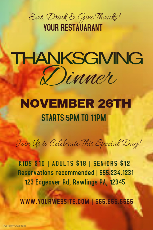 Thanksgiving Flyer 5