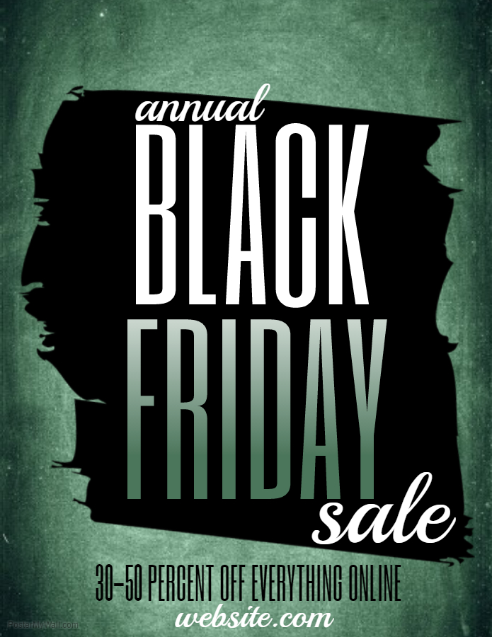 Black Friday Green Flyer