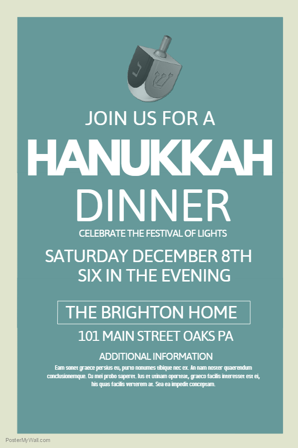 Hanukkah Poster Template 1