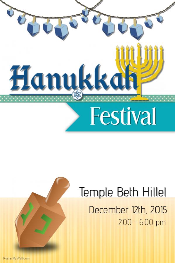 Hanukkah Poster Template 2