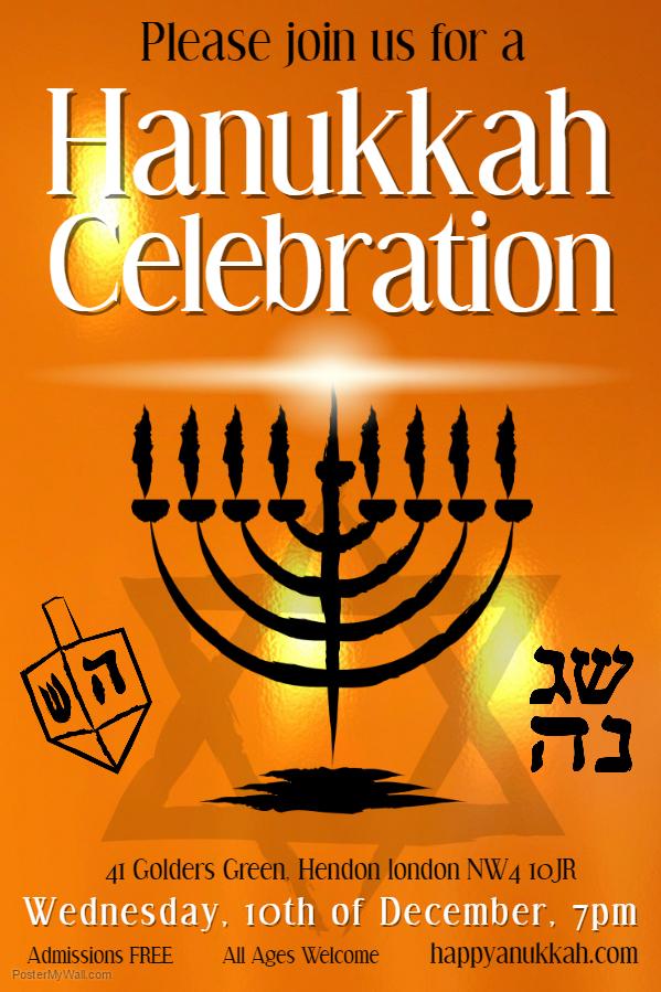 Hanukkah Poster Template 4