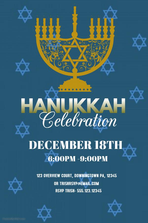 Hanukkah Poster Template 5