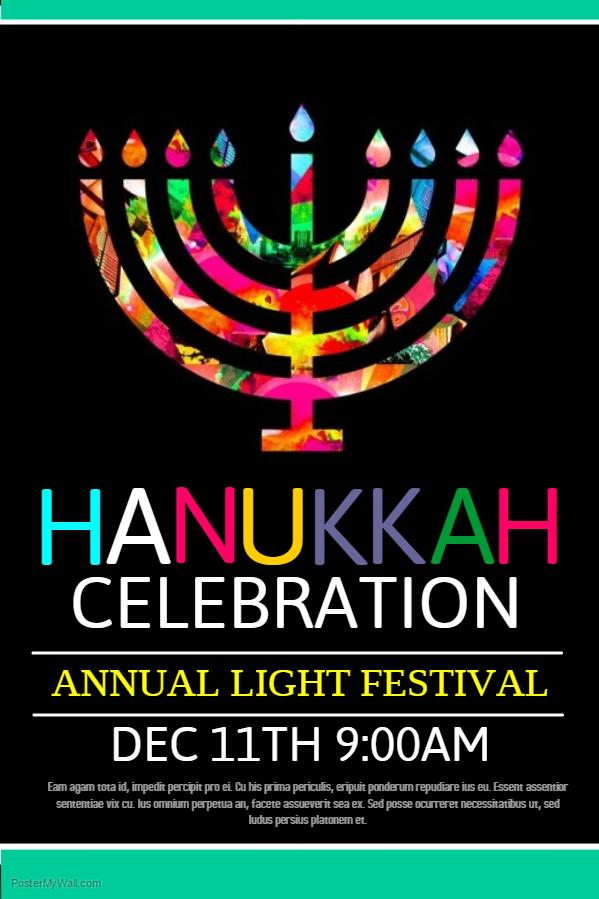 Hanukkah Poster Template 6