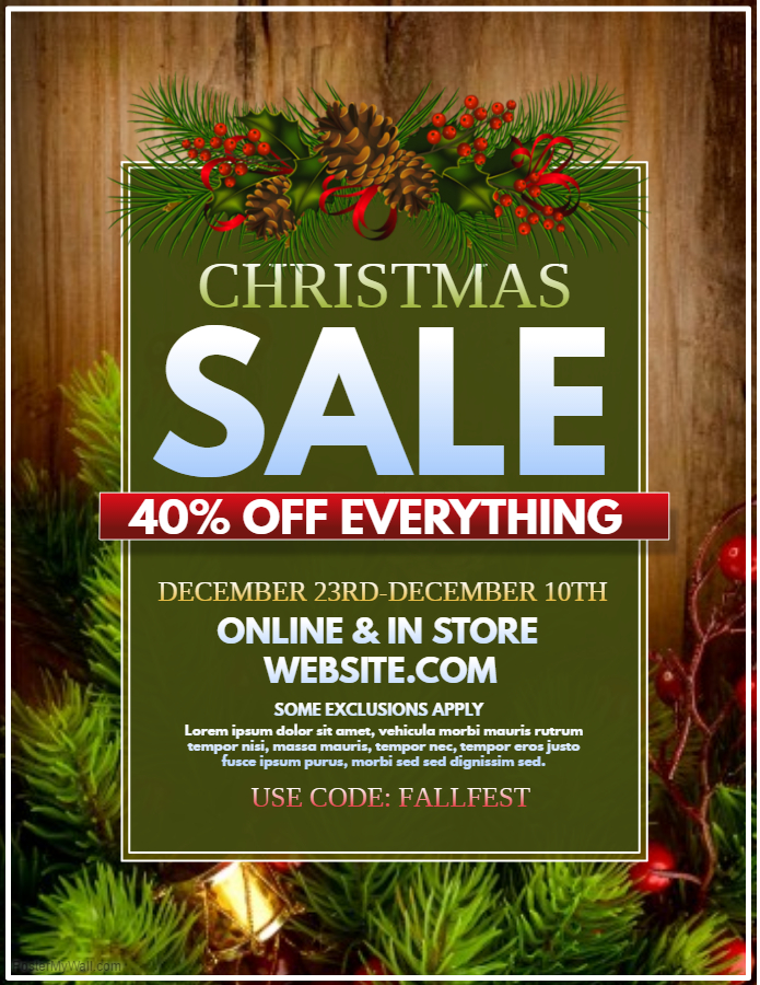 Natural looking Christmas Retail Flyer Template
