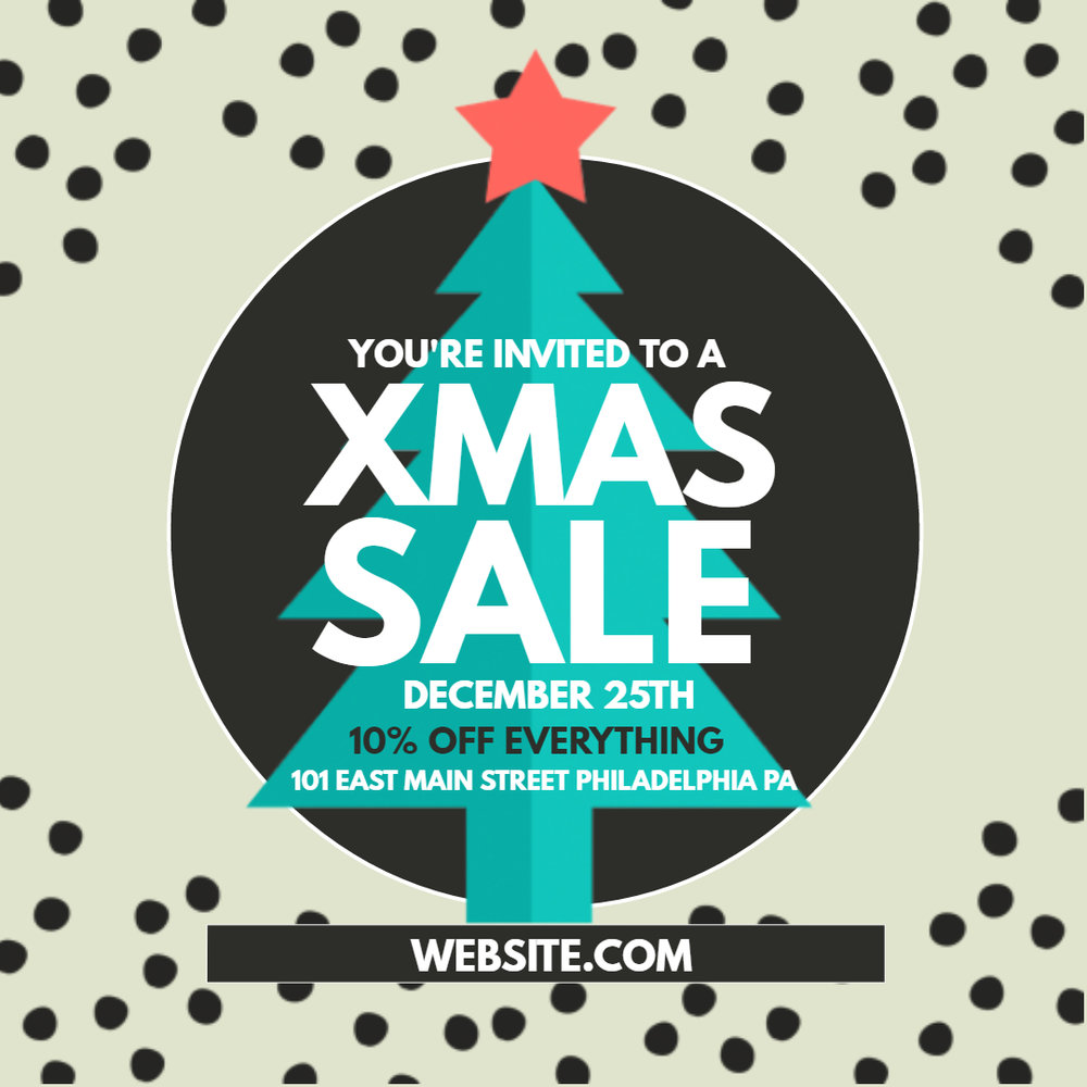 Xmas Sale Flyer Template