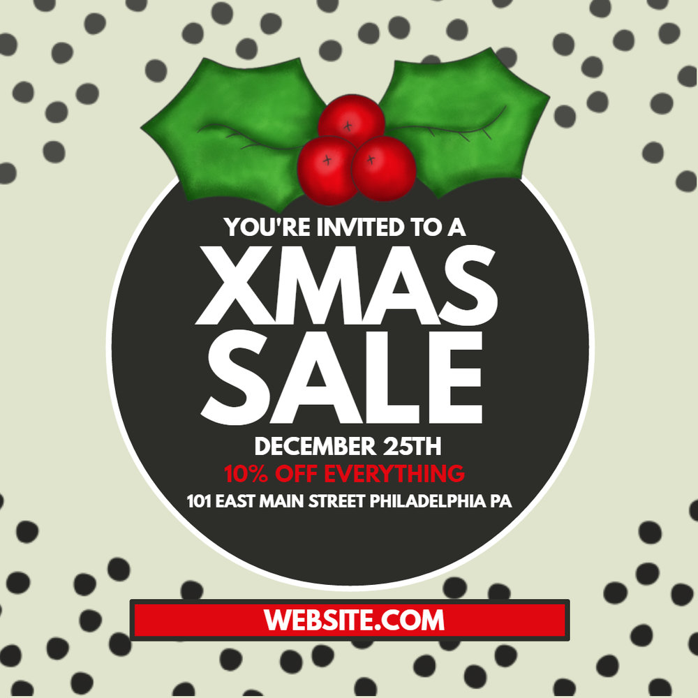 Xmas Sale Poster Template