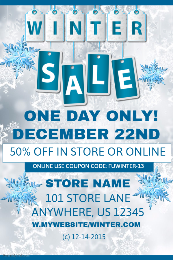 Winter Sale Poster Template