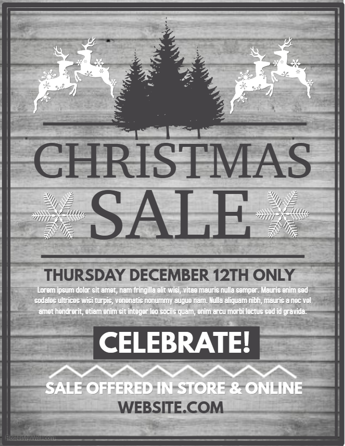 Christmas Sale Retail Poster Template