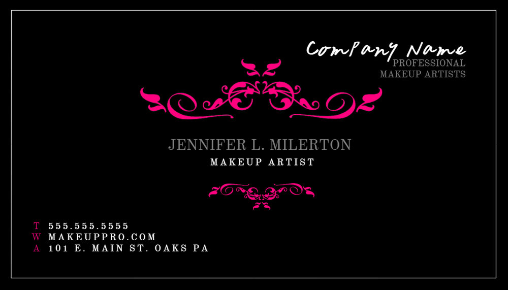 Black and Purple Business Card