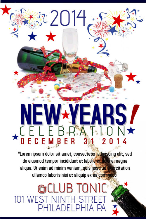 Spread Word About Your New Year\'s Party! | Design Studio