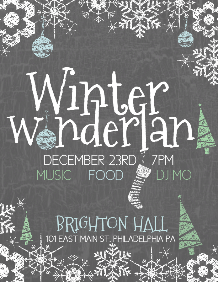 Winter Wonderland Poster Template