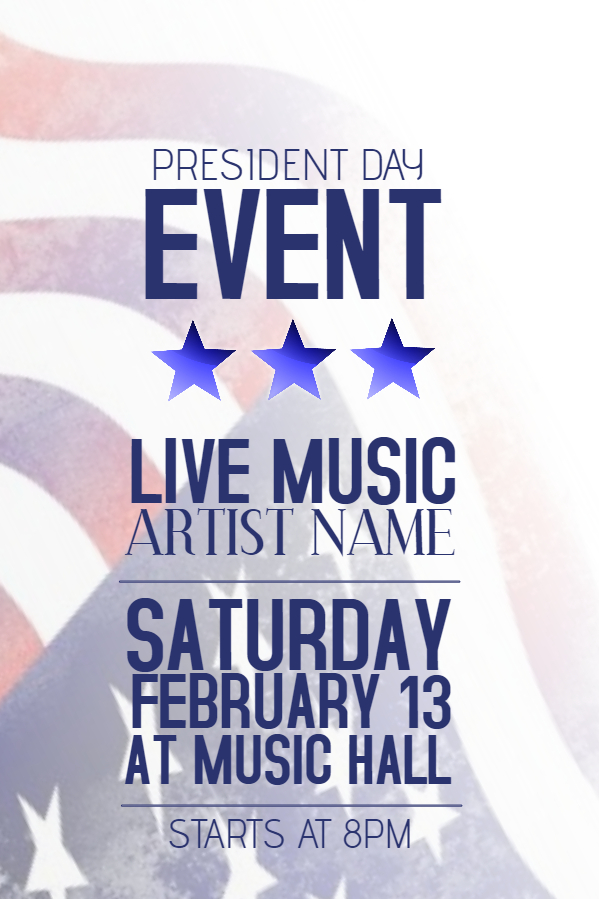President's Day Poster
