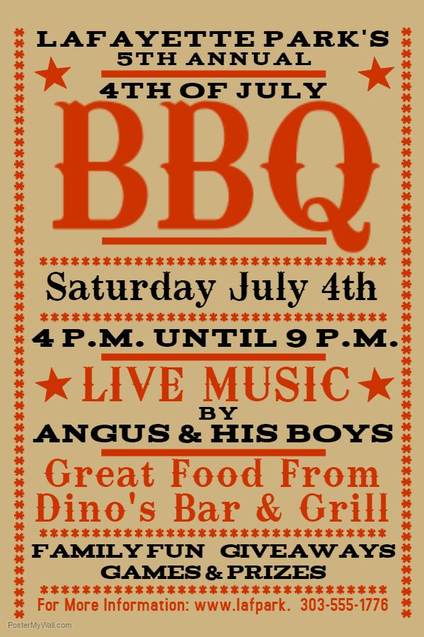 Vintage BBQ Flyer