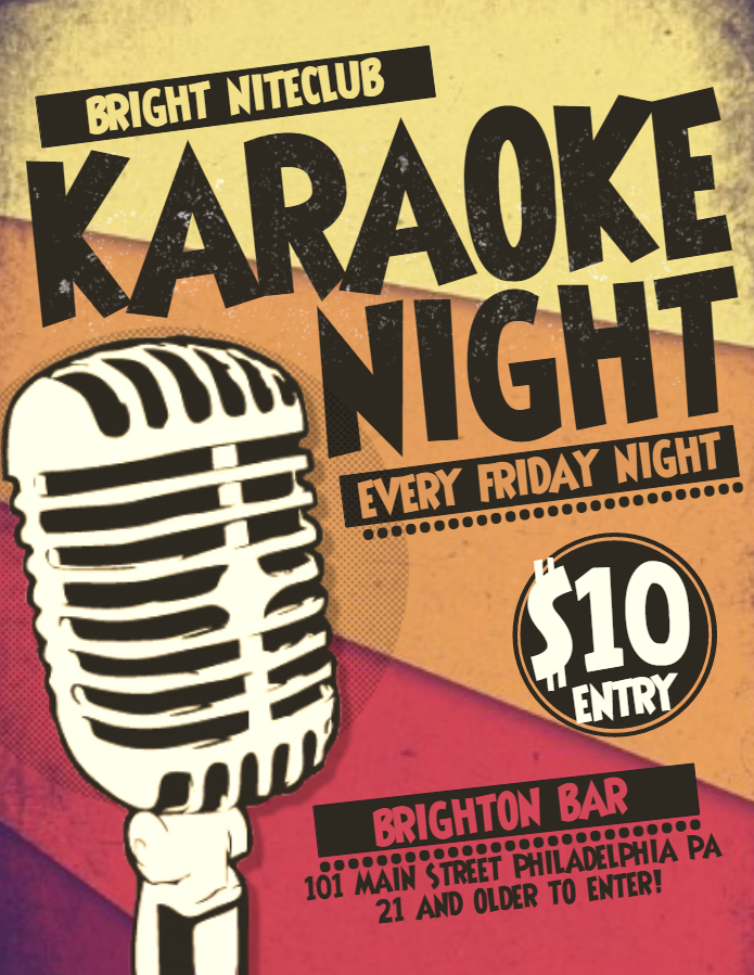 Vintage Karaoke Flyer