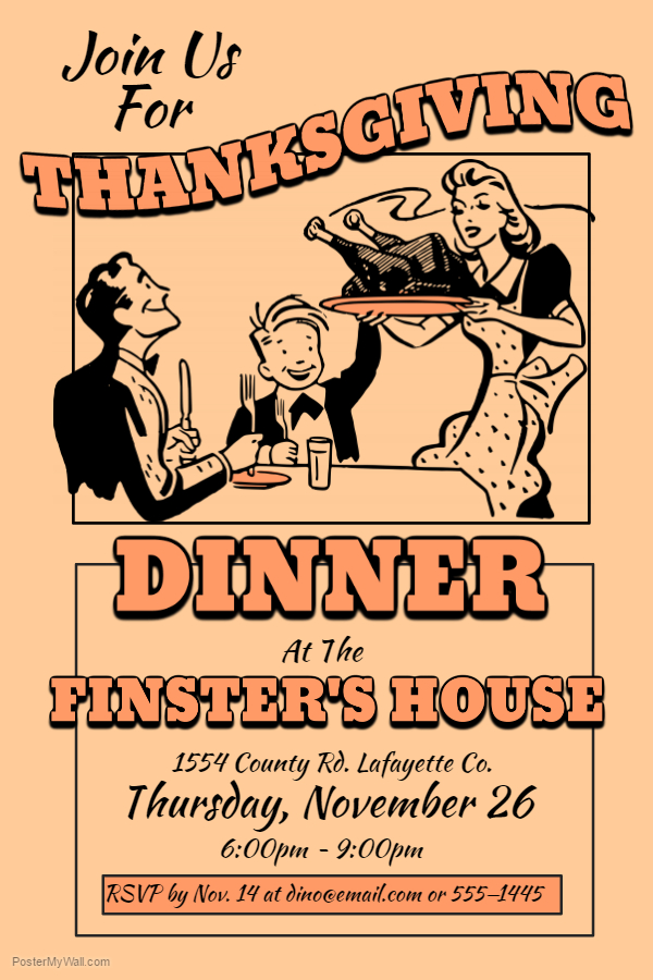 Vintage Thanksgiving Flyer
