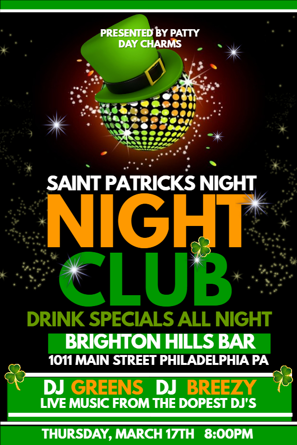 St Patrick's Nightclub Flyer