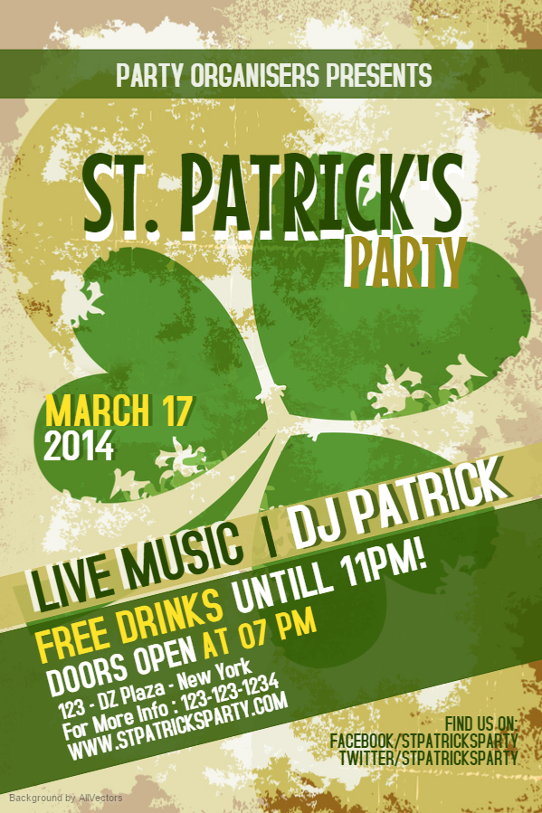 Prepare For St Patrick\'s Day With Bar Flyers | Design Studio