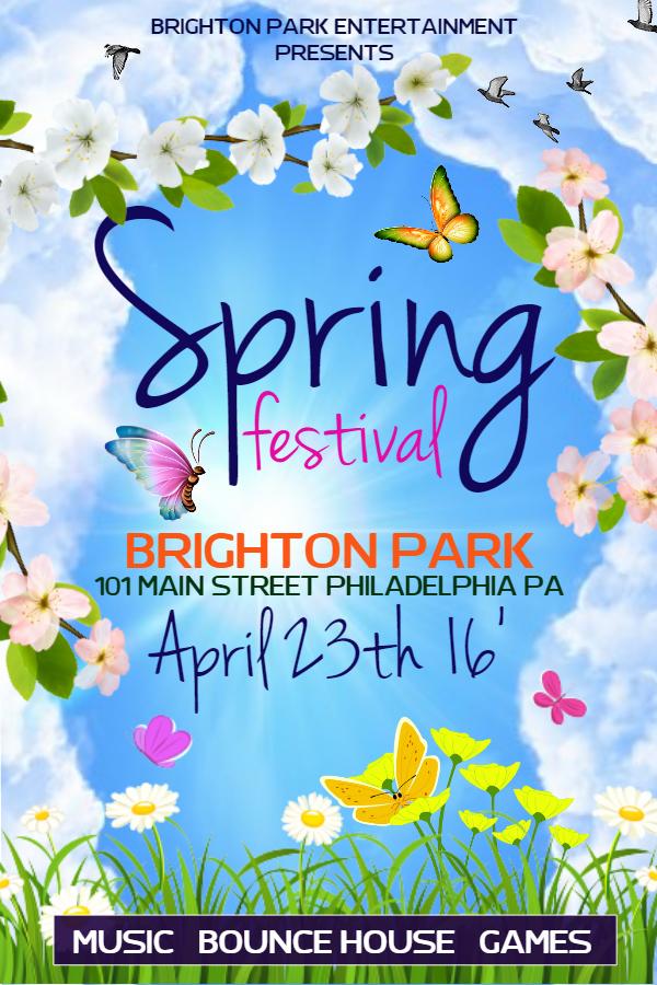 Blue Spring Festival Flyer