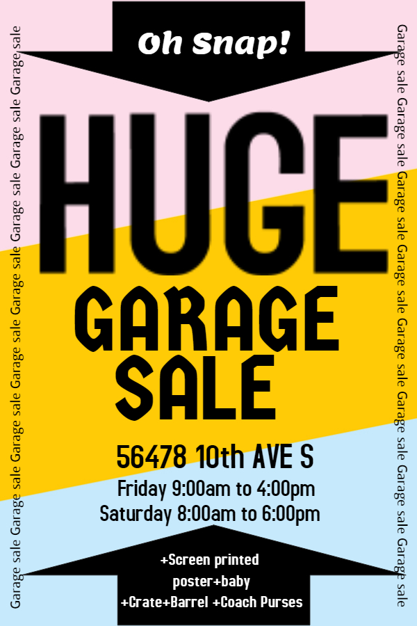 New Flyer Templates For Spring & Garage Sales | Design Studio