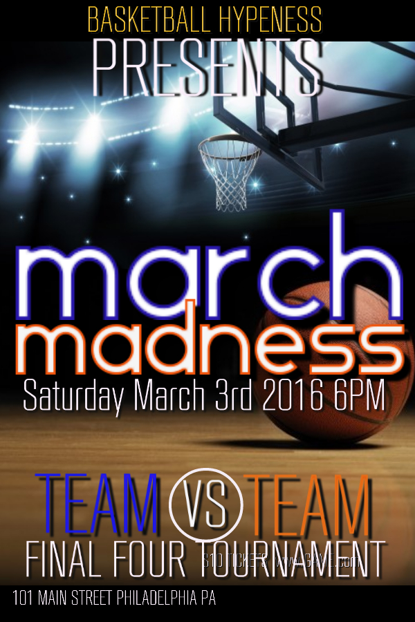 March Madness Poster Template