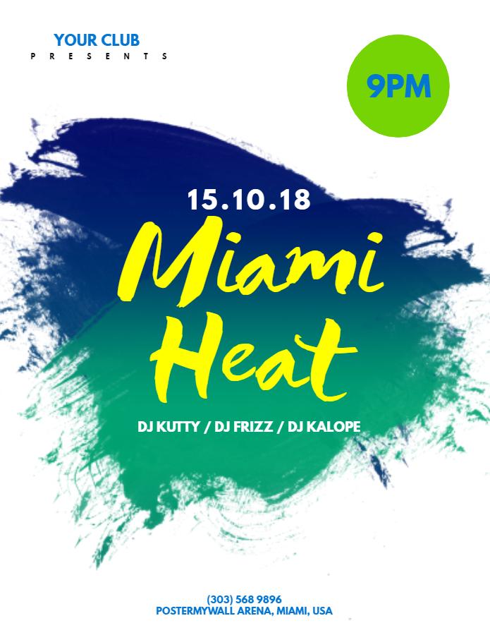 Miami Heat Flyer