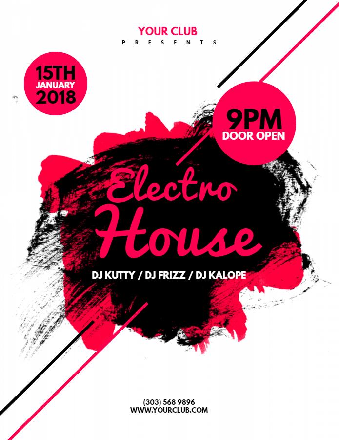 Electro House Nightclub Flyer