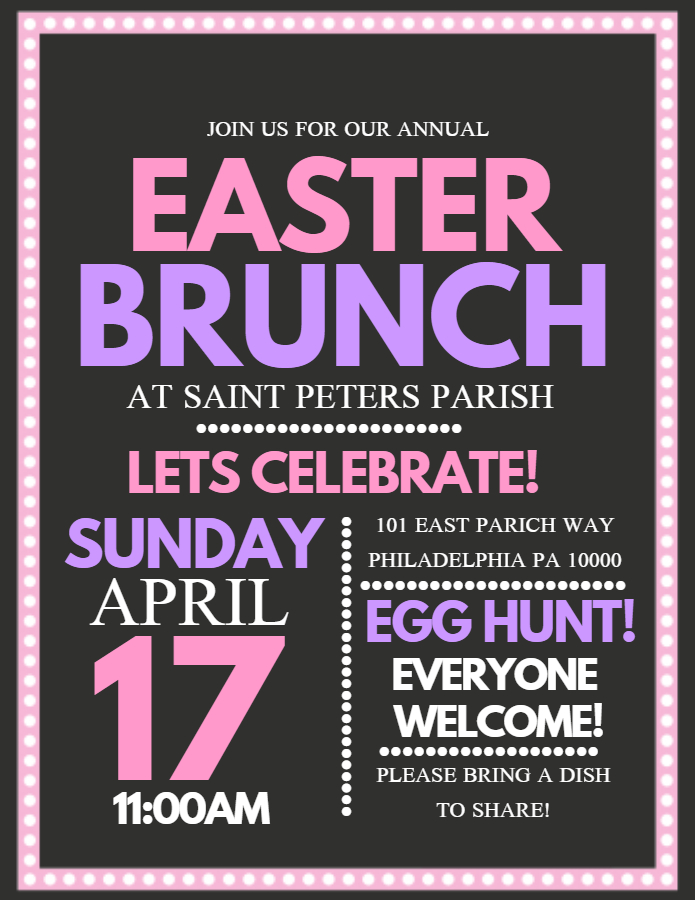 Easter Brunch Flyer Design