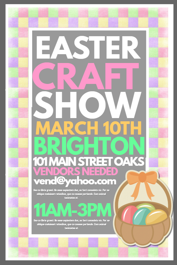Bright Easter Craft Show Poster Template