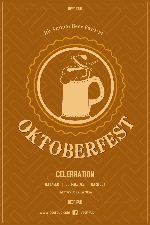 Orange Oktoberfest Poster
