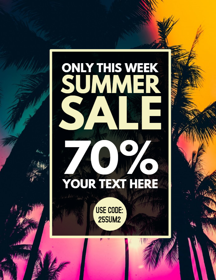 Summer sale flyer