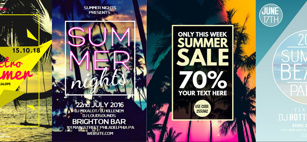 new flyers for summer events sales design studio