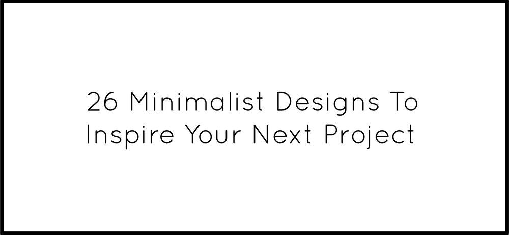 26 minimalist designs for your next project design studio