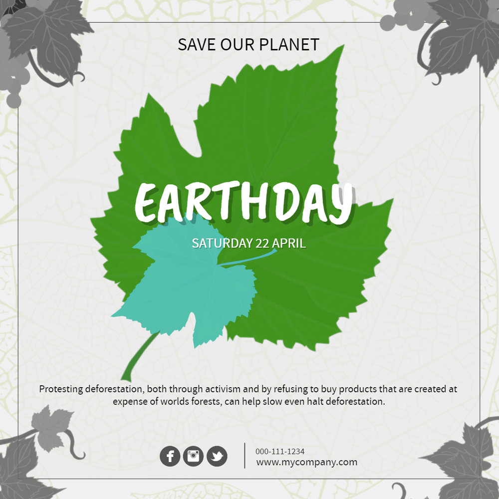 Earth Day Social Media Template