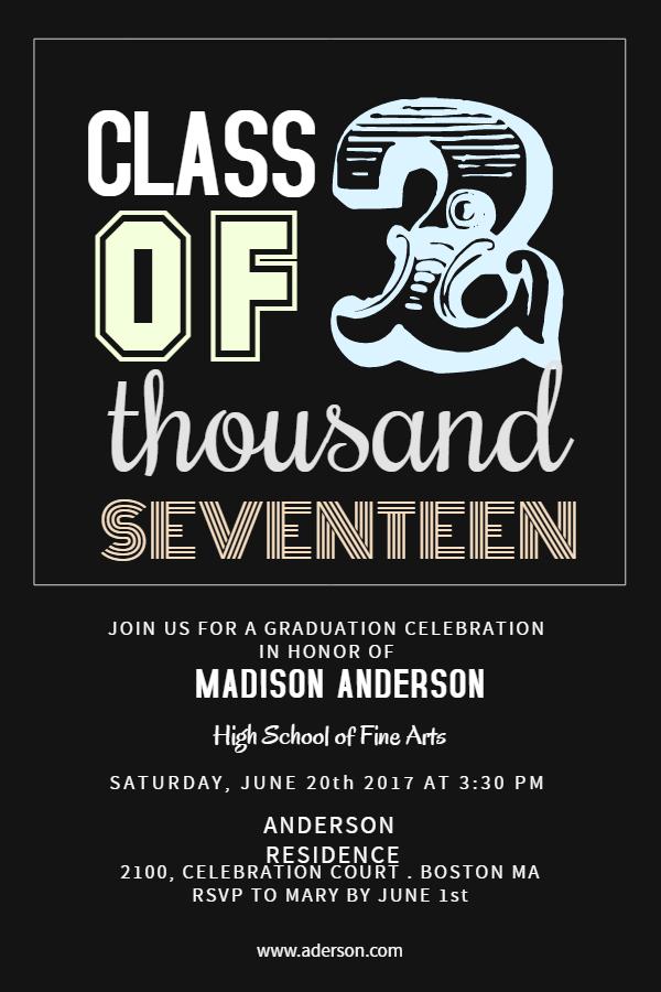 grad celebration poster