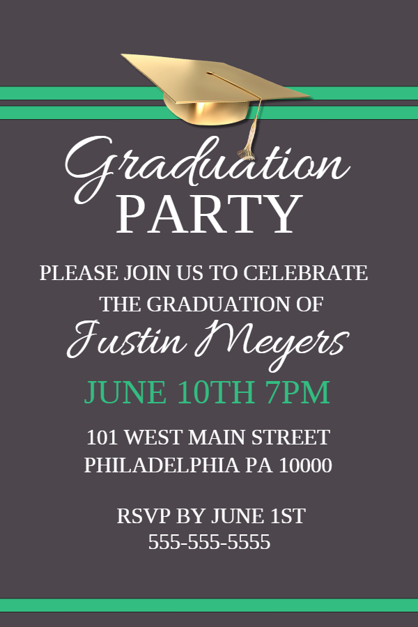 grad party poster